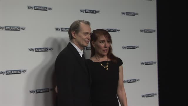 steve buscemi jo andres at the sky atlantic hd launch at london england - steve buscemi stock videos and b-roll footage