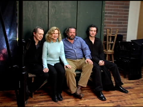 steve buscemi mary kay place mark boone jr and kevin corrigan of 'lonesome jim' at the 2005 hp portrait studio presented by wireimage at hp portrait... - steve buscemi stock videos and b-roll footage