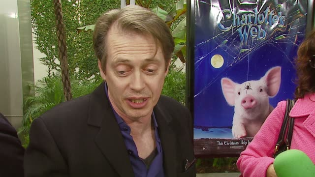 steve buscemi on playing templeton the rat at the 'charlotte's web' los angeles premiere at arclight cinemas in hollywood california on december 10... - steve buscemi stock videos & royalty-free footage