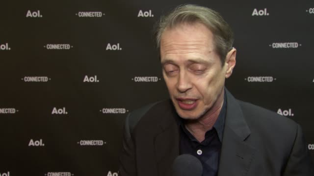 interview steve buscemi on the importance of online programming at 2014 aol newfronts at the duggal greenhouse on april 29 2014 in new york city - steve buscemi stock videos & royalty-free footage