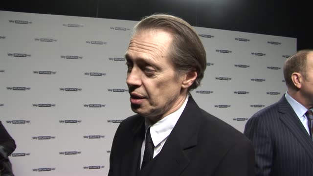 steve buscemi on working with martin scorsese and how he is easy to work with at the sky atlantic hd launch at london england - steve buscemi stock videos & royalty-free footage