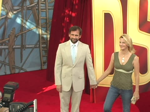 Steve Carell and Nancy Walls at the 2005 MTV Movie Awards Arrivals at Shrine Auditorium in Los Angeles California