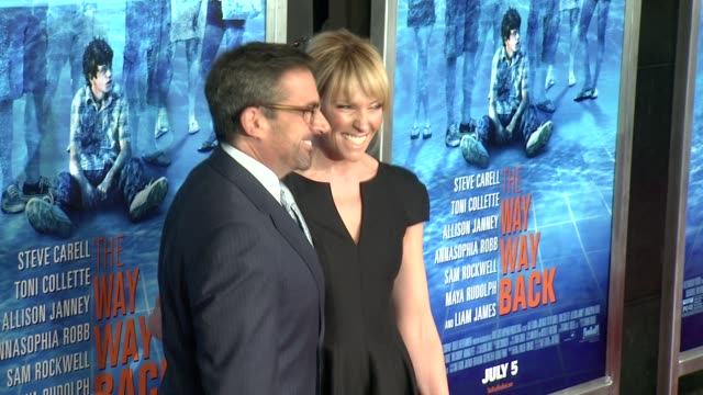 steve carell and toni collette at the way way back new york premiere the way way back new york premiere on june 26 2013 in amc loews lincoln square... - amc loews stock videos and b-roll footage