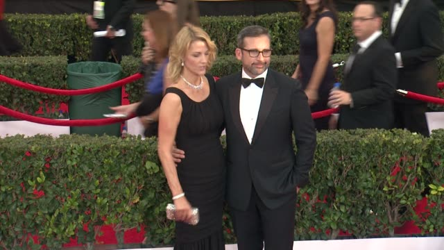 steve carell at the 21st annual screen actors guild awards - arrivals at the shrine auditorium on january 25, 2015 in los angeles, california. - shrine auditorium stock videos & royalty-free footage