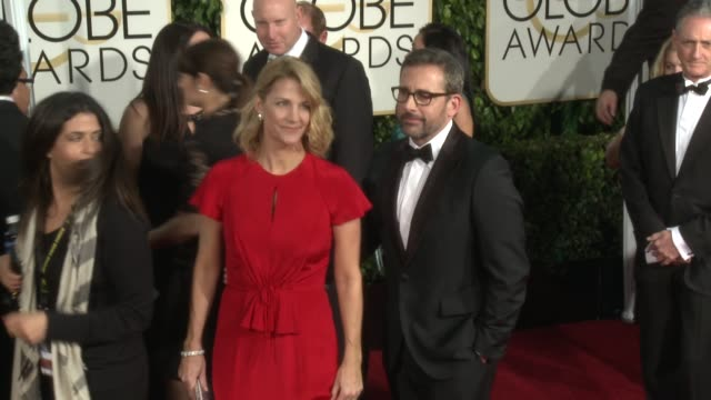 Steve Carell at the 72nd Annual Golden Globe Awards Arrivals at The Beverly Hilton Hotel on January 11 2015 in Beverly Hills California