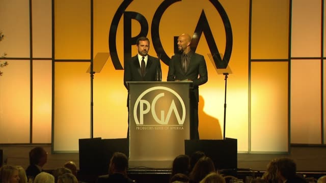 vidéos et rushes de steve carell, common at 26th annual producers guild awards in los angeles, ca 1/24/15 - producer's guild of america awards
