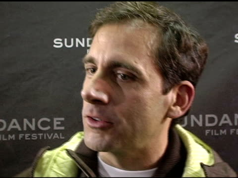steve carell on his chest hair growing back the film and upcoming projects at the 2006 sundance film festival 'little miss sunshine' premiere at the... - chest hair stock videos and b-roll footage