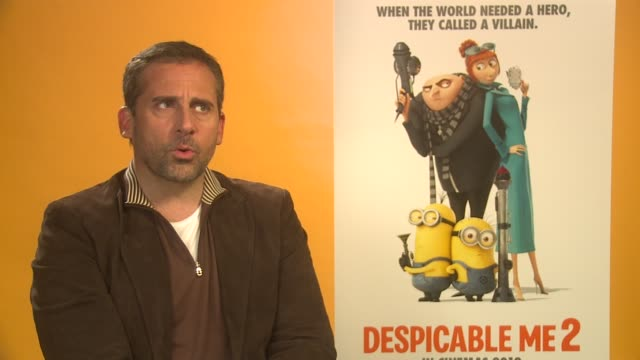 interview steve carell on possible franchise spin offs at 'despicable me 2' interview on june 19 2013 in london england - possible stock videos & royalty-free footage