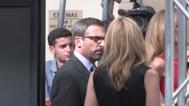 steve carell & toni collette at the way way back premiere at regal cinemas in los angeles, 06/23/13 - toni collette stock videos & royalty-free footage