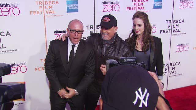 stockvideo's en b-roll-footage met steve cohen alexa ray joel and billy joel at the premiere of 'last play at shea' 9th annual tribeca film festival at new york ny - billy joel