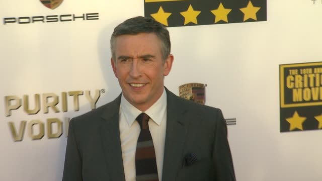 steve coogan at 19th annual critics' choice movie awards - arrivals at the barker hanger on in santa monica, california. - steve coogan stock videos & royalty-free footage