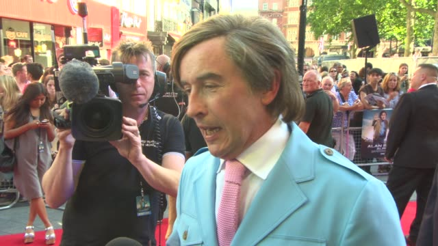 steve coogan at 'alan partridge: alpha papa'- world premiere at vue west end on july 24, 2013 in london, england - steve coogan stock videos & royalty-free footage