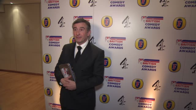 steve coogan at british comedy awards at fountain studios on december 12, 2013 in london, england. - steve coogan stock videos & royalty-free footage