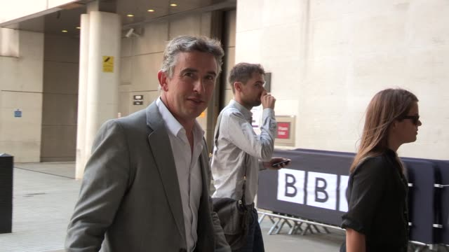 steve coogan at celebrity video sightings on august 06, 2013 in london, england - steve coogan stock videos & royalty-free footage