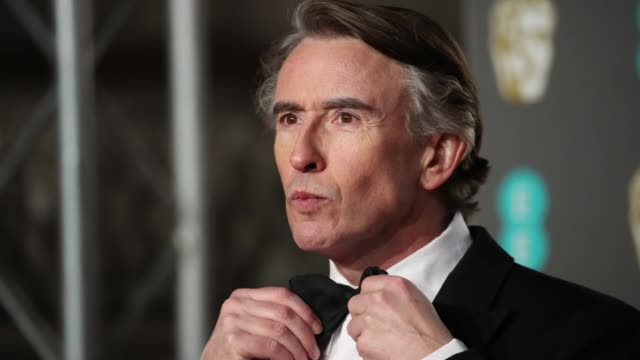 steve coogan at ee british academy film awards 2019 on february 7 2019 in london england - british academy film awards stock videos & royalty-free footage