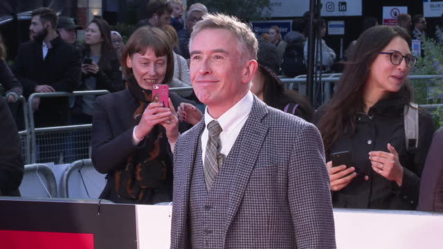 steve coogan at 'greed' european premiere 63rd bfi london film festival at odeon luxe leicester square on october 9 2019 in london england - steve coogan stock videos & royalty-free footage