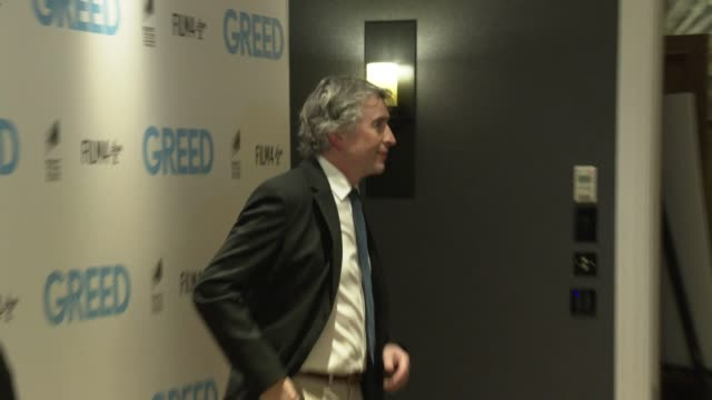 steve coogan at 'greed' special screening at ham yard hotel on february 12, 2020 in london, england. - steve coogan stock videos & royalty-free footage