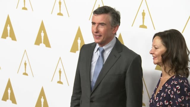 steve coogan & gabrielle tanaa t the 86th academy awards nominee luncheon - reception at the beverly hilton hotel on in beverly hills, california. - steve coogan stock videos & royalty-free footage