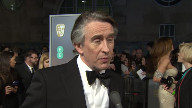 steve coogan interview on bafta red carpet about the film stan and ollie - steve coogan stock videos & royalty-free footage