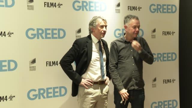 stockvideo's en b-roll-footage met steve coogan michael winterbottom at 'greed' special screening at ham yard hotel on february 12 2020 in london england - steve coogan