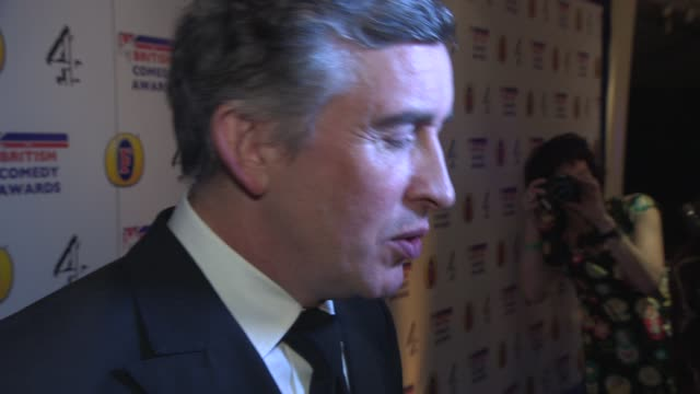 steve coogan on alan partridge and his future plans at british comedy awards at fountain studios on december 12, 2013 in london, england. - steve coogan stock videos & royalty-free footage