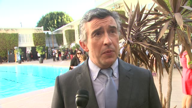 interview steve coogan on what this award season has been like at the 86th academy awards nominee luncheon interviews at the beverly hilton hotel on... - the beverly hilton hotel stock videos & royalty-free footage