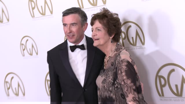 steve coogan, philomena lee at 25th annual producers guild awards at the beverly hilton hotel on in beverly hills, california. - the beverly hilton hotel点の映像素材/bロール