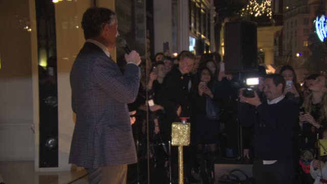 steve coogan turns on the christmas lights at stella mccartney store christmas lights at stella mccartney on november 26, 2014 in london, england. - steve coogan stock videos & royalty-free footage
