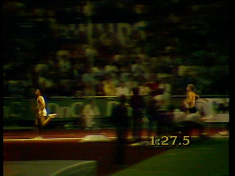 steve cram competes against other athletes at the 1985 bislett games - steve cram stock videos & royalty-free footage
