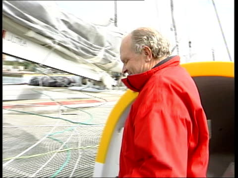 steve fossett ends roundtheworld record breaking trip steve fossett ends roundtheworld record breaking trip itn devon plymouth ms steve fossett out... - world record stock videos and b-roll footage