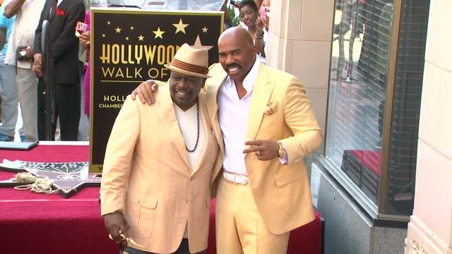 Steve Harvey and Cedric the Entertainer at Steve Harvey Honored With Star On The Hollywood Walk Of Fame Steve Harvey and Cedric the Entertainer at...