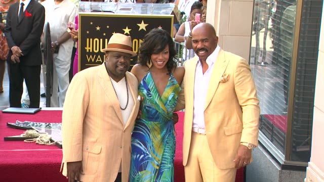 Steve Harvey Cedric the Entertainer and Wendy Raquel Robinson at Steve Harvey Honored With Star On The Hollywood Walk Of Fame Steve Harvey Cedric the...