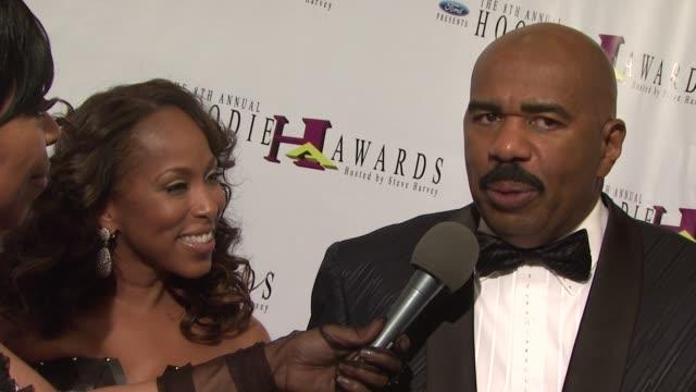 Steve Harvey Marjorie Harvey at the 8th Annual Hoodie Awards Hosted by Steve Harvey at Las Vegas NV