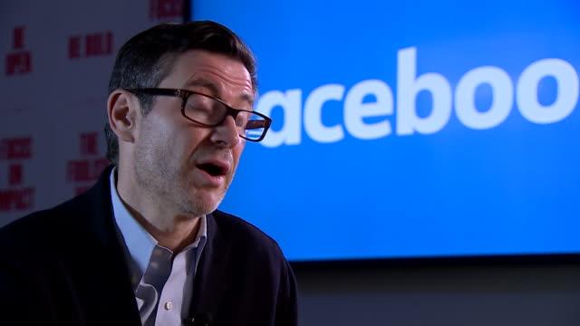 vidéos et rushes de steve hatch facebook vice president northern europe interview soundbites abou the policies regarding self harm images on instagram - suicide