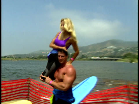Steve Henneberry lifts up Pamela Anderson