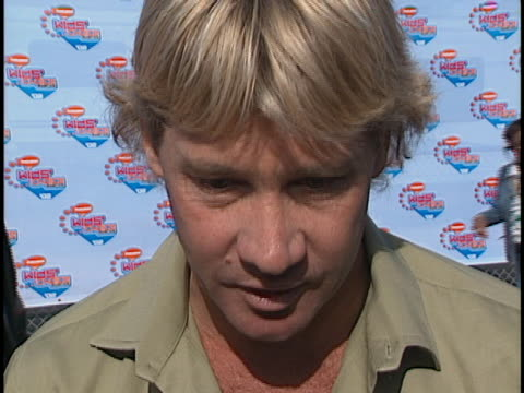 Steve Irwin at the 15th Annual Kids Choice Awards at Barker Hanger Santa Monica Airport in Santa Monica CA