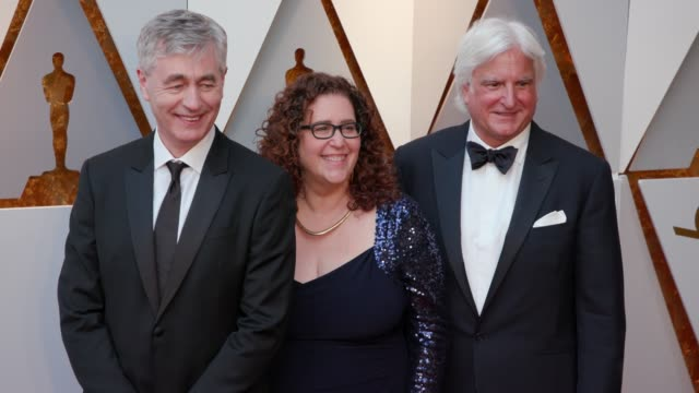 steve james julie goldman and mark mitten at 90th academy awards arrivals 4k footage at dolby theatre on march 04 2018 in hollywood california - mitten stock videos and b-roll footage