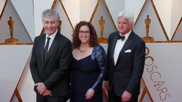 steve james julie goldman and mark mitten at 90th academy awards arrivals at dolby theatre on march 04 2018 in hollywood california - mitten stock videos and b-roll footage
