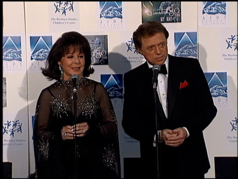 steve lawrence at the sinatra's 80 years my way at the shrine auditorium in los angeles, california on november 19, 1995. - shrine auditorium stock-videos und b-roll-filmmaterial
