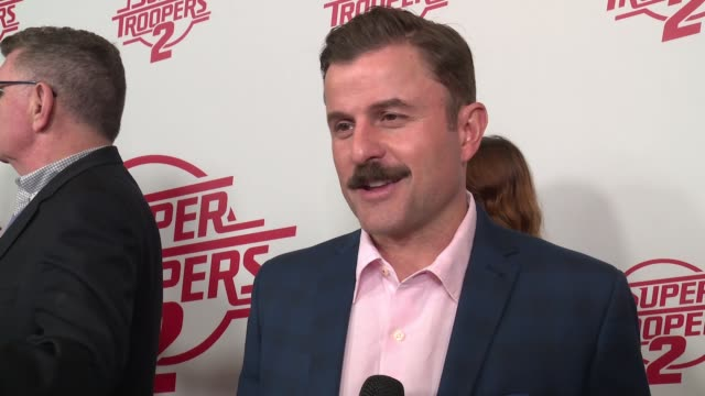 interview steve lemme on the fan favorite return at super troopers 2 new york premiere presented by fox searchlight pictures at regal union square... - super troopers 2 stock videos & royalty-free footage