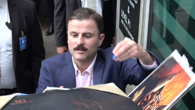 steve lemme signs for fans at the super troopers 2 premiere at arclight cinemas in hollywood in celebrity sightings in los angeles - super troopers 2 stock videos & royalty-free footage