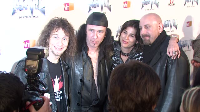 steve 'lips' kudrow robb reiner rebecca yeldham guest at the 'anvil the story of anvil' premiere at los angeles ca - anvil the story of anvil stock videos and b-roll footage