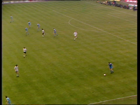 Steve MacKenzie and Kevin Reeves play intricate series of onetwo passes MacKenzie beats goalkeeper Milija Aleksic only to hit goalpost denying goal...