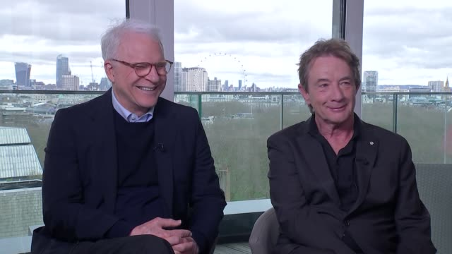 steve martin and martin short interview; england: london: int steve martin and martin short interview sot - martin short stock videos & royalty-free footage