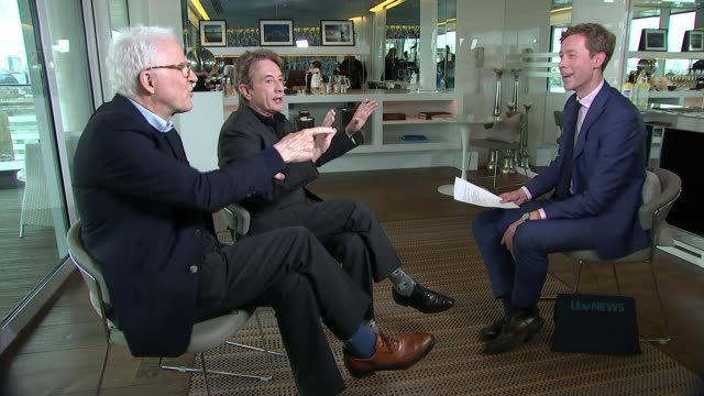 stockvideo's en b-roll-footage met steve martin and martin short interview on their new comedy tour england london int steve martin and martin short interview sot - martin short