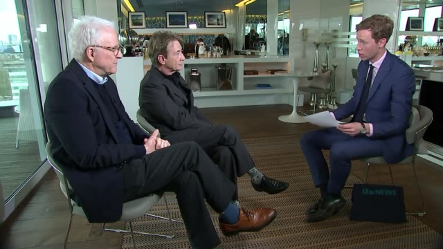 steve martin and martin short interview on their new comedy tour; england: london: int steve martin and martin short interview sot - martin short stock videos & royalty-free footage