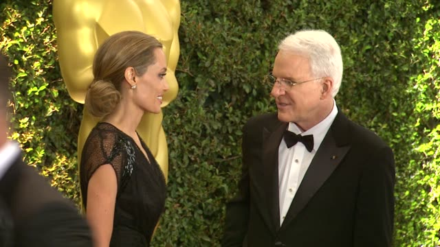 Steve Martin Angelina Jolie at Academy Of Motion Picture Arts And Sciences' Governors Awards in Hollywood CA on