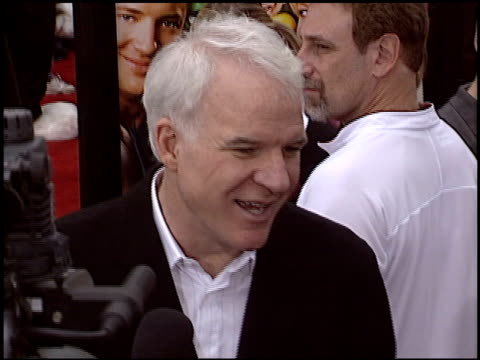 steve martin at the 'looney tunes back in action' premiere at grauman's chinese theatre in hollywood california on november 9 2003 - スティーブ マーティン点の映像素材/bロール