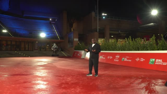"""steve mcqueen arrives on the red carpet ahead of the """"small axe"""" screening during the 15th rome film fest on october 16, 2020 in rome, italy. - rome film festival stock videos & royalty-free footage"""