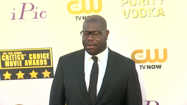 steve mcqueen at 19th annual critics' choice movie awards - arrivals at the barker hanger on in santa monica, california. - critics' choice movie awards stock videos & royalty-free footage